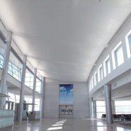 Plafond tendu grand espace