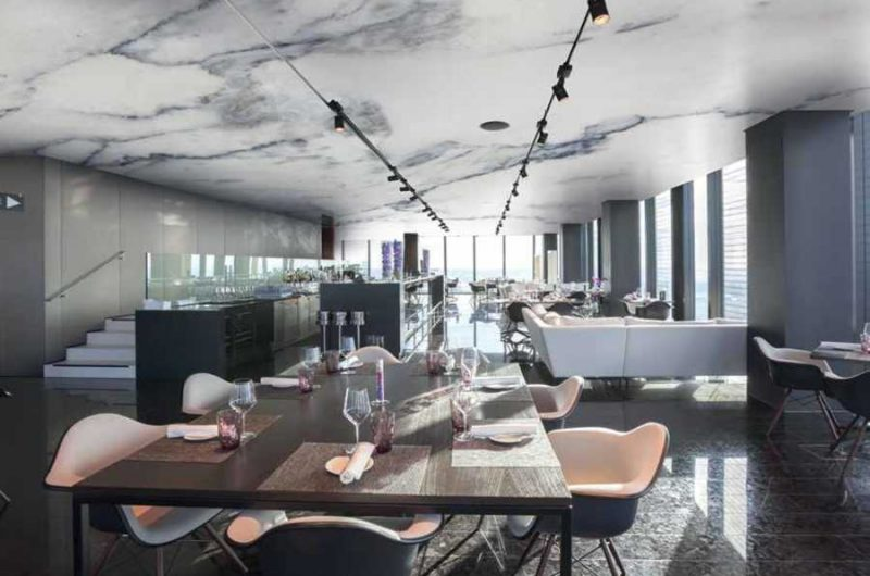 Plafond tendu effet marbre Haut Rhin